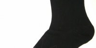 Black men's socks with gray rhombus