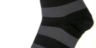 Mens socks with grey and black stripes