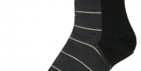 Mens socks with white stripes